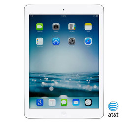 Apple iPad Air 128GB Wi-Fi + AT&T - White (MF018LL/A)