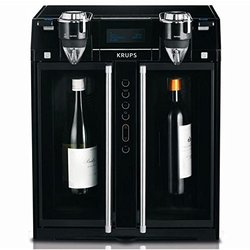 KRUPS JC200850 Wine Aerator and Dispenser, 2-Bottle, Black