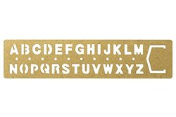Midori Brass Template Alphabet 42169006