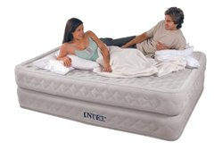Intex Supreme Air-Flow Airbed with Built-in Electric Pump - Queen Size