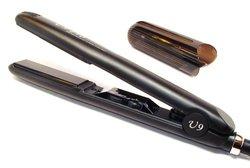 U9 Tourmaline Ceramic Dual Voltage Smooth Hair Straightener Flat Iron