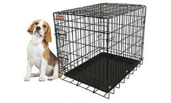 Coleman Collapsible Metal Pet Crate - Size: M