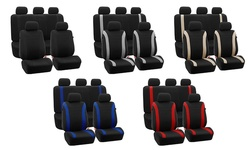 Cosmopolitan Flat Cloth Seat-cover Set: Black