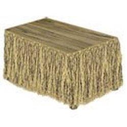 Natural-Color Artificial Grass Raffia Table Skirt Sale