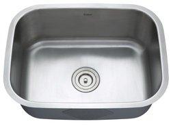 "KRAUS All-in-One Undermount Stainless Steel 23"" Single Bowl Kitchen Sink"