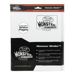 Monster Binder - 9 Pocket Matte White Album - Holds 160 Yugioh, Magic, and Pokemon Cards