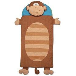 Stephen Joseph Monkey Nap Mat Blue brown