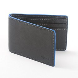 Buxton Men's Front Pocket RFID Slimfold Ink Edging Wallet - Black