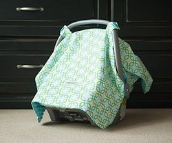 Carseat Canopy Baby Infant Car Seat Cover with Attachment Straps