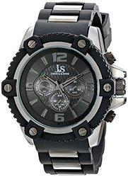 Joshua & Sons Men's JS94BK Analog Display Swiss Quartz Watch - Black