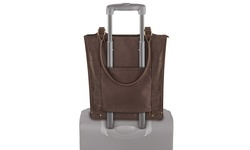 MOT4 Women's Solo Verticle Laptop Tote Bag - Espresso