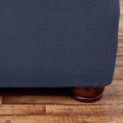 "Savannah Form Fit Stretch Sofa Slipcover fits for 37x86x38"" Sofa - Grey"