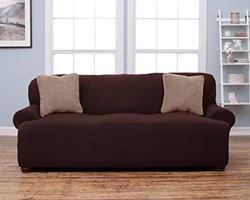 Home Fashion Designs Savannah Sofa Form Fit Slip Cover - Chocolate