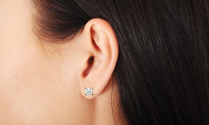 Niru Ltd 1 4 Ct Tdw Diamond 14k Gold Stud Earrings White