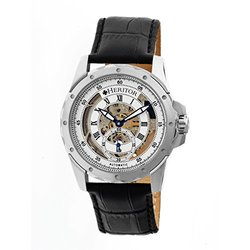 Heritor Automatic Men's Armstrong Skeleton Watch - Black/Silver