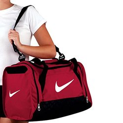 43e4a8f10f5e Nike Brasilia 6 Duffel Small Gym Red Black White Size Small - Check ...