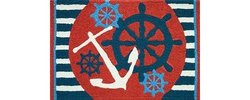 "Jellybean Anchors Away Wheel Area Accent Rug - Multi - Size: 21"" x 33"""