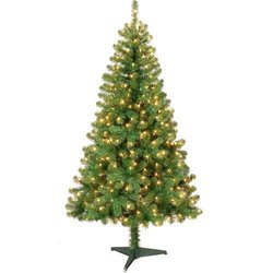 6ft clear color Pre lit Valley Pine Christmas Tree 6 Foot