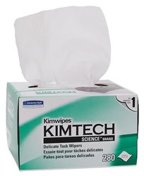 "Kimberly-Clark 34155 Kimtech Science Kimwipes Delicate Task Disposable Wiper, 8-25/64"" Length x 4-25/64"" Width, White (Case of 60 boxes)"