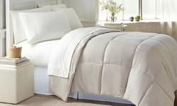 Wexley Home All-Seasons Down-Alternative Comforter - Khaki - Size: King