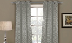 Tayla Heavy Blackout Grommet Pair Panels - Taupe