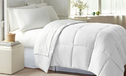 Wexley Home Down-Alternative Comforter - White - Size:Full/Queen