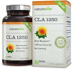 NatureWise CLA 1250 Non-GMO Healthy Weight Management Supplement - 180 ct.