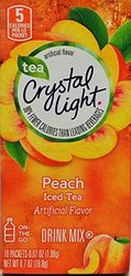 Crystal Light On The Go Peach Tea Count Boxes - 10 Count - Pack of 6