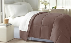 Wexley Home Down-Alternative Comforter - Chocolate - Size: Full/Queen