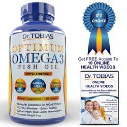 Dr. Tobias Omega 3 Fish Oil Pills Pharmaceutical Grade Essential Fatty