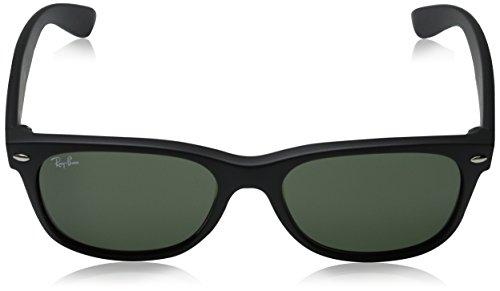 Ray-Ban New Wayfarer Sunglasses - Black Rubber Frame/Green Lens ...