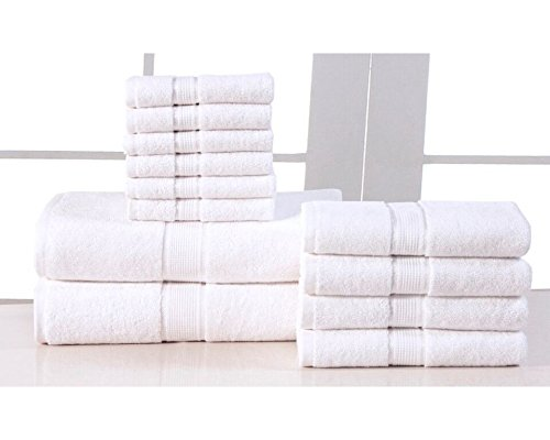 Elegance spa 12 piece set white check back soon blinq for Home spa brand towels