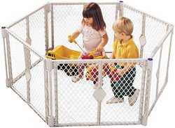 North States Classic Super Yard Child Safety Gate - Gray