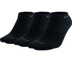 Nike Dri-FIT Half Cushion Low Cut - 3 Pair (BLACK/FLINT GREY, Large)