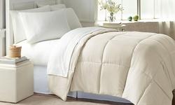 Wexley Home Down Alternative Comforter Ivory-Full Queen