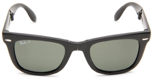 1808d9234fc3a Ray-Ban Men s Wayfarer Folding Square Sunglasses - Black - Check ...