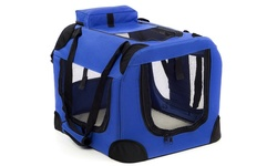 OxGord Portable Soft-Sided Pet Carrier Crate - Blue - Size: Small