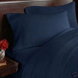 1500 Supreme Collection 4 Piece Bed Sheet Set Deep Pocket, Full, Navy