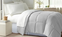 Wexley Home All-Seasons Comforter - Platinum - Size: Queen