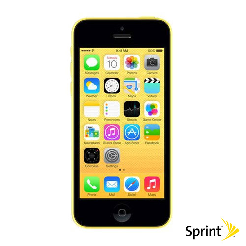 Apple IPhone 5c 16GB No Contract For Sprint Yellow
