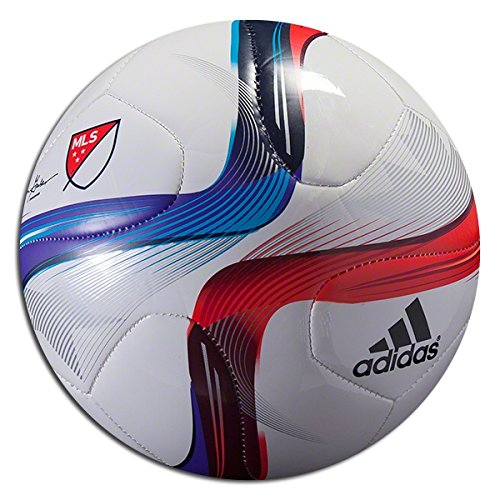 Adidas Performance 2015 Mls Top Glider Soccer Ball White Power Red Solar Blue Size 4 Check Back Soon Blinq