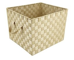 Large Ivory Woven Storage Tote