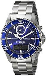 Invicta Men's Pro Diver Analog-Digital Display Swiss Watch - Silver