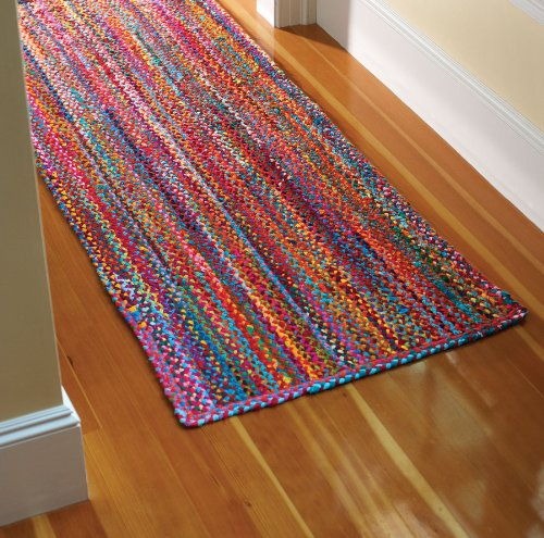 Extra Weave Usa Carnivale Braided Rug 3 Feet Round Check Back