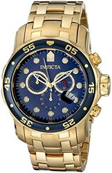 Invicta Men's 0073 Pro Diver Collection Chronograph 18k Gold-Plated Watch 486017