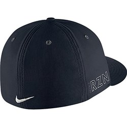 ... Nike Golf Flatbill True Tour RZN Vapor Fitted Hat Cap - Black - Size  M  ... c1ab92dc08a