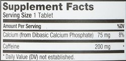 Prolab Nutrition Caffeine, 100 tabs 200mg(Pack of 2)