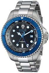 Men's Reserve Hydromax GMT Stainless Steel Black Dial