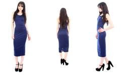 Roxy Women's Ponte Knee-Length Bodycon Dress - Navy Blue - Sz: Small