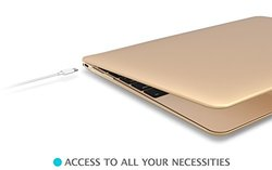 Case for Apple The New MacBook 12'' inch Retina Display Laptop Computer i-Blason [Gold, Space Gray, Silver], Hard Shell Protective Case [2015 Release], Smooth Matte Finish (Gold)